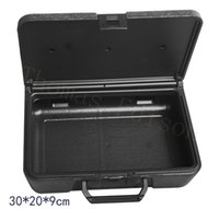 Wholesale hardware tool packing suitcase instrument and meter equipment big black box Plastic box