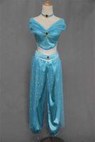 aladdin adult costumes - New amp Elegant Aladdin Jasmine Princess Adult Kids Belly Dancer Cosplay Costume