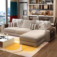 Wholesale The simplicity of modern large sized apartment sofa combination washable IKEA three cloth sofa living room corner