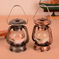 antique lantern lamp - Cigarette Lighter Antique Kerosene Lamp MINI Lantern Lighter Refillable Butane Gas Lighter for Gift Collection