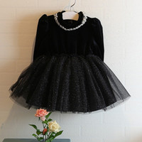baby dress stitching - Hug Me Baby Girls Dress Lace Tutu new Korean girls stitching skirt dress Tutu lining AA So