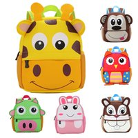 Wholesale 12 inch cm Diving material children schoolbag for age years kindergarten cartoon backpack lovely animal children waterproof bag bag003