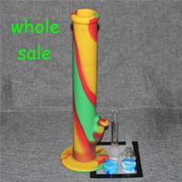 Hot Sale Silicon Water Pipes bongs en verre de verre de l'eau de fumer des tuyaux d'eau en silicone et des jarres d'huile de silicone de bonne qualité