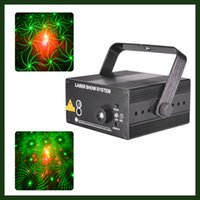 Wholesale Remote Control Patterns LED Projector DJ Gear Laser Stage Lighting Red and Green Show Auto Sound active Professional Disco DJs Party