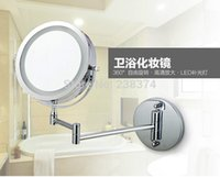 bath mirror frames - Makeup Mirrors LED Wall Mounted Extending Folding Double Side LED Light Mirror x Magnification Bath mirror Toilet Mirror