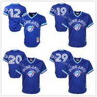 Baseball Men Short Men's Toronto Blue Jays Roberto Alomar Joe Carter Mitchell & Ness Royal 1993 Authentic Cooperstown Collection Mesh Batting Practice Jersey