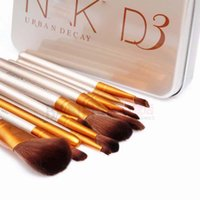 appliance packages - nake cosmetic brush Kit tech makeup brushes Gold Package beauty appliances makeup brush Retail box Set makeup DA01