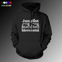 bass club - Drum and Bass Clubbing Turntables Decks Music DNB Man Junglist Movement thin Hoodies