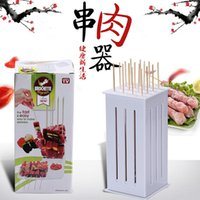 beef holes - Brochette Express Kebab kabob Maker Box Holes BBQ Kabob Maker Meat Skewer Machine Beef Meat Maker Barbecue Tool BBQ