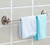 Wholesale Floureon Suction Cup Home Bath Towel Holder Rail Bar Rack Stainless Steel