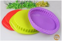 Wholesale 9 inch round shape gear shape Silicone Cake Mould Cake Baking Pan BPA Free Non Stick Silicone Deep Round Classic Cake Pan