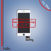 Wholesale-For iPhone 7 Plus Black Grade A +++ Écran LCD Écran tactile Digitizer Panel + Frame Assembly