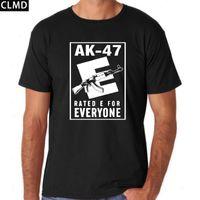 Men ak shirt - Top Quality short sleeve men tshirt casual cotton AK gun print mens t shirts cool men s tee shirts tops men T shirt