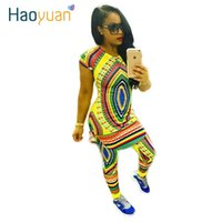 Wholesale 2016 Summer Traditional African Clothing Piece Set Women Africaine Print Bodycon Dashiki Dress African Clothes Manufacturers