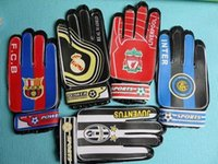 baseball gloves children - 2 gift Ac milan Chelsea Sports Boys Kids gloves New children Soccer Club Football training goalkeeper gloves team game Goalie Gloves