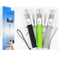 Monopied à pôle extensible Prix-Multifonctions tout-en-un pliable avec rainure Kit de prise de câble pour auto-chronométrage Monopod extensible Handheld Selfie Stick Rod Wired