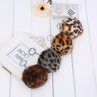accessories for purses - New Fashion Leopard Design Key chain Pendant For Bag Purse Charms Accessories