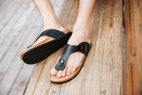 Wholesale Men Sandals Shoes Summer Outdoor Casual Flats Solid Cork Slippers Mixed Color Beach Shoes Slides Plus Size