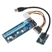 Mini PCIe à PCI-e 16X Riser avec SATA à IDE Molex Cordon d'alimentation USB 3.0 Câble de données 60cm pour ordinateur portable Carte vidéo externe EXP GDC Bitcoin Miner