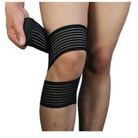 Wholesale Ankle Support Kneecap Multifunction Winding Elasticity Bandage Self Adhesive Elasticity Protective Gear Stretch Fish Ribbon Flesh Black s