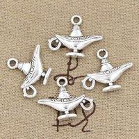 aladdin antique lamps - Cents Charms aladdin magic lamp genie mm Antique Making pendant fit Vintage Tibetan Silver DIY bracelet necklace