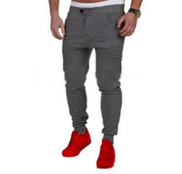 Wholesale Men s Fitness Jogging Sports Casual Pants Stitching Design Stripe Stovepipe Men s Sports Pants