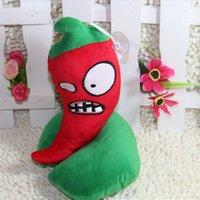 Wholesale Plants vs Zombies Plush Toys cm Plants vs Zombies Set Soft Stuffed Plush Toys Doll Baby Toy peppers