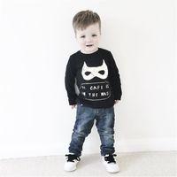 Wholesale Boys T shirt Kids Clothing Spring Batman Tops Fashion Cute Print Long Sleeve Cotton T shirt ER