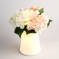 Wholesale The Nordic Ikea Creative Lamp Contemporary And Contracted White Flower Arranging Flowers DIY Desk LED Lamp DYH11