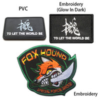 Wholesale To Let World Be Fox Hound Chest Costume Tactical Badge Hook Loop D Army Embroidery PVC Badges Military Morale Embroidered Patch free ship