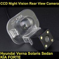 Precio de Línea de hd-CCD HD Cámara de marcha atrás para Hyundai Acento Verna Solaris Sedan Kia Forte Línea de aparcamiento RearView Backup Noche Visión Impermeable