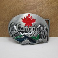 belts canada - BuckleHome Canada belt buckle with pewter plating FP