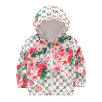 baby maternity clothes - Kids Girls Floral Print Jackets Spring Style Baby Girl Full Sleeve Hooded Coats Children Outwear Clothing Maternity B143