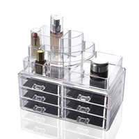 Wholesale Makeup Organizer Acrylic Storage Box Clear Cosmetic Drawers Jewelry Drawer Plastic Box Organizer