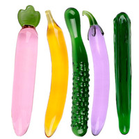 Wholesale Fruit Vegetable Series Massager Sex Toys For Woman Crystal Glass Dildo Anal Sex Toys For Female And Man