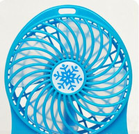Wholesale Portable Rechargeable LED Fan Air Cooler Mini Operated Desk USB Battery