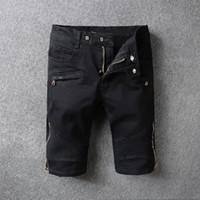 Pantalones vaqueros de Hommes de la marca de fábrica de los hombres de NWT Hommes Pantalones vaqueros negros de Hommes de la marca de fábrica de los hombres Pantalones Vaqueros
