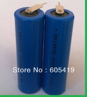 aa pins - 100pcs With soldering welded pins V mAh Non rechargeable AA ER14505 LS14500 ER14505 LiSOCI2 Battery