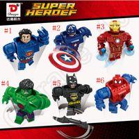 Wholesale Avengers Superhero Building Blocks D Minifigures Model Toy Bricks Marvel Super Heroes spider man Ironman OOA944
