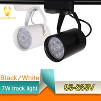 aluminum spotlight - Commercial Lighting LED Track Light W W W Track Rail Aluminum Spotlight Lamp Led Tracking for Office Cloth Store Home Lighting