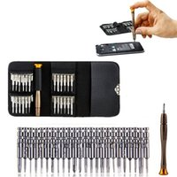 Wholesale 25 in Precision Screwdrivers Set Repair opening Tool Kit Torx Phillips Screwdriver with Black Bag for Mobile Phone PC Laptop Macbook