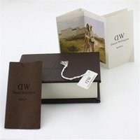 Wholesale DW Watch Box Luxury Brand DW Watch Original Retail Boxes Cases With Instructions Manual And Tag DW Watch Packing