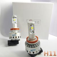 Wholesale 2PCS H11 LED Car Headlight Bulbs W LM Error Free Super Bright Auto Lights Conversion Kit