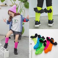baby scoks - Kids Unisex Baby Knee High Cartoon Socks Devil Wings Socks Boys Girls Knee Pad Scoks For years old Children