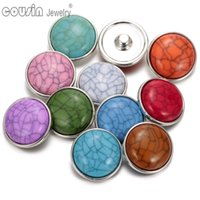 Wholesale New arrivals fashion mm dark blue imitation turquoise snap button charms fit DIY jewelry