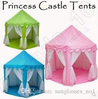 3 colores INS Kids tiendas de juguetes portátiles princesa juego de castillo juego tienda de campaña de la casa de hadas diversión interior de entretenimiento al aire libre Playhouse CCA5396 10pcs