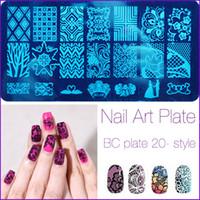 beautiful templates - Fashion Series Steel Nail Stamp Stamping Image Konad Plate Print Nail Art Template DIY Beautiful Crown Flowers New Sale