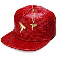 best submachine gun - trendsetter Submachine Gold Gun Logo Baseball Cap Snapback Caps Hip Hop Sport Sunhat Adjustable Leather Men Women Accessories Best Gifts