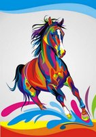 beautiful horse pictures - Beautiful Poster Painting Dazzle Colour Of Pentium Fast Horse Wall Home Decor Painting Pictures Abstract Art Print On The Canvas Unframed