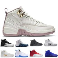 air table game - With Box Hot Cheap Air Retro XII Mens Basketball Shoes Sneakers Women White TAXI Flu Game gamma blue Playoff flint French Blue Cool Grey